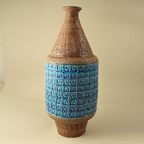 Aldo Londi, Bitossi Italy. Rimini Blue Large Vase