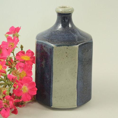 Octagonal Studio Pottery  Vase, Knabstrup, Denmark