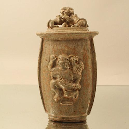 Triangular Stoneware Jar, Bode Willumsen, RC