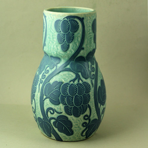 Josef Ekberg Sgrafitto Stoneware Vase, Gustavsberg. 1921