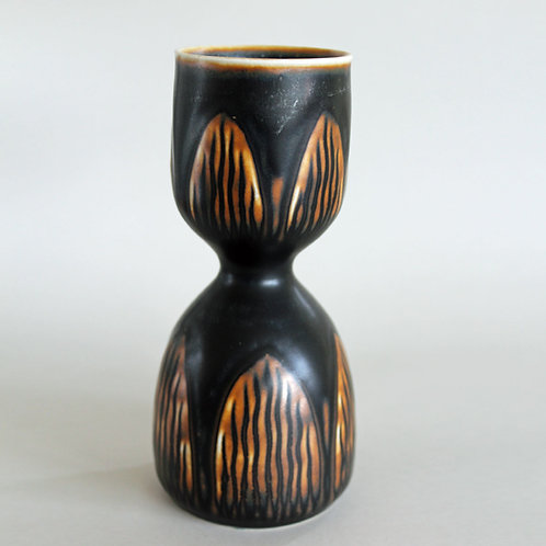 Hourglass Vase, Gerd Bogelund, Royal Copenhagen, Denmark