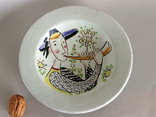 Carl Harry Stalhane, Rorstrand, Sweden. Hand-Painted Bowl
