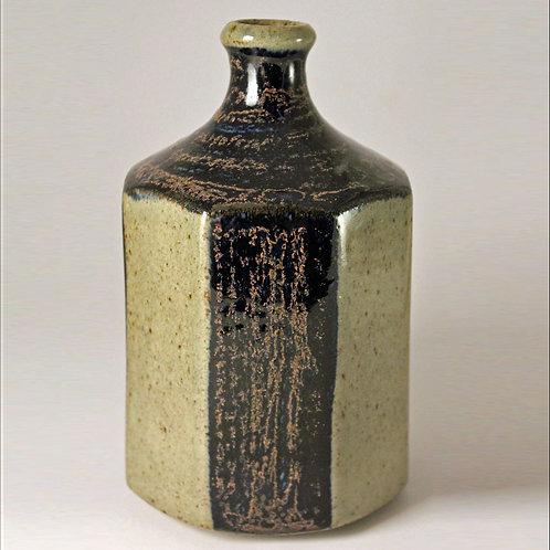 Octagonal Bottle Vase, Knabstrup, Denmark