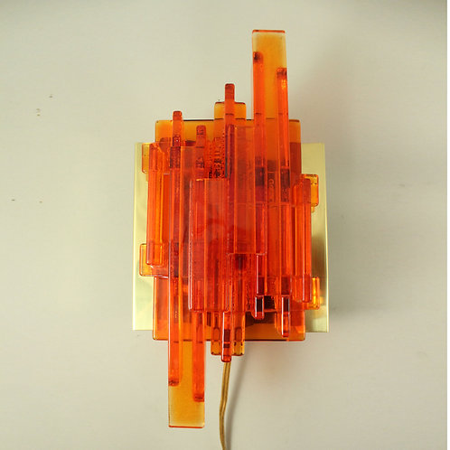 Orange Sconce designed by Claus Bolby, Denmark