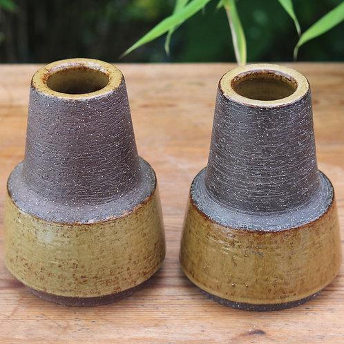 Michael Andersen, Denmark, Pair of Mid Century Stoneware Vases