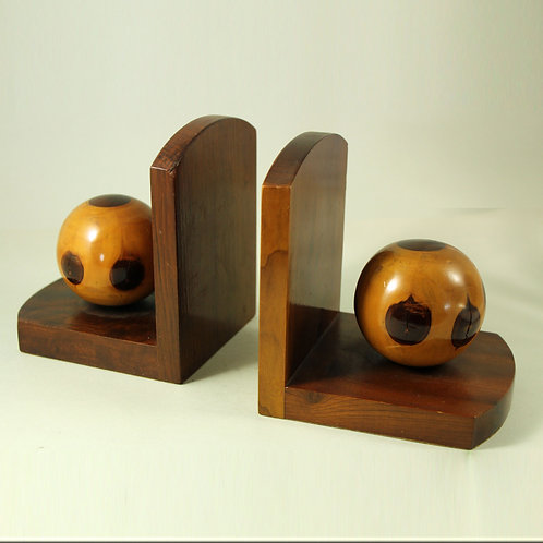 Pair of Art Deco Wooden Bookends, Denmark