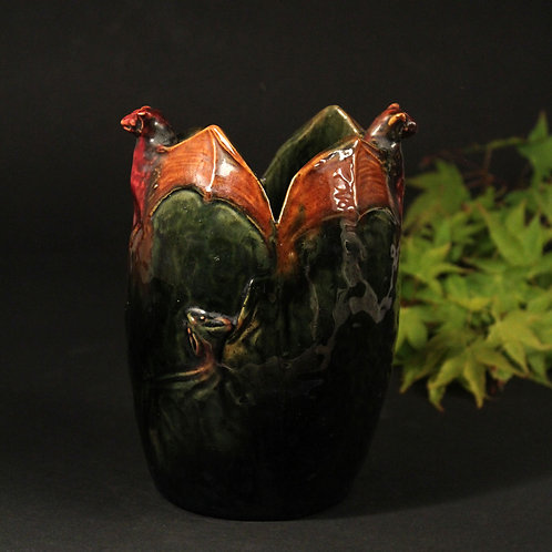 Art Nouveau 'Bat' Vase, Michael Andersen, Denmark