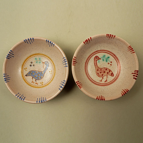 Pair of Painted  Small Bowls, Gertrud Kudielka, L. Hjorth, Denmark