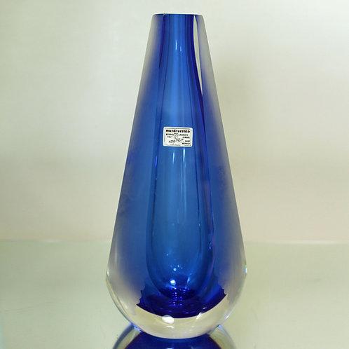 Etched Art Glass Vase, Mandruzzato, Murano, Italy