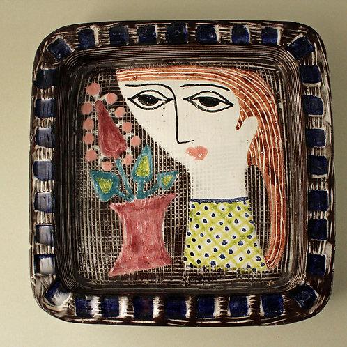 Mari Simmulson. Glazed Earthenware Bowl, Upsala-Ekeby, Sweden, 1950's