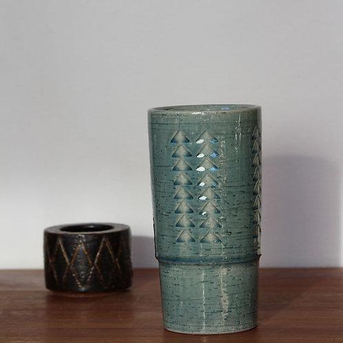 Chamotte Stoneware Vase, Palshus, Denmark