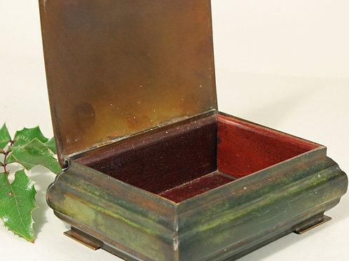 Art Deco Lidded Bronze Box, Ildfast Bronce, Denmark