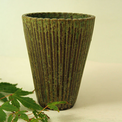 Arne Bang, Own Studio, Denmark. Fluted Vase no. 116