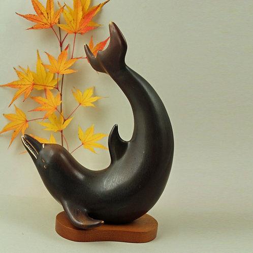 Gunnar Nylund, Rorstrand, Sweden. Dolphin Sculpture