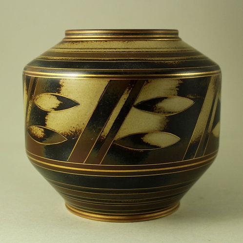 Gunnar Nylund, Rorstrand, Sweden. Art Deco Flambe Vase