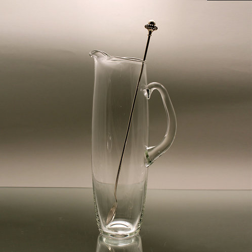 Holmegaard Cocktail Pitcher with Silver Stirrer