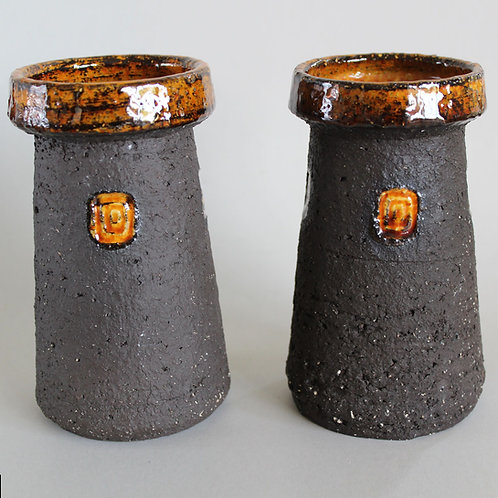Pair of Vases from Hegnetslund Studio, Denmark