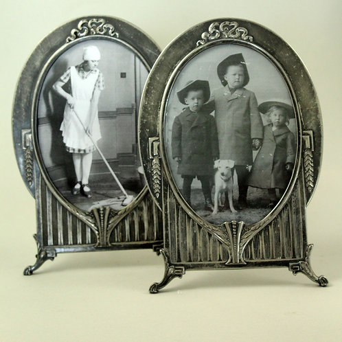 Pair of Antique Silver-Plated Photo Frames