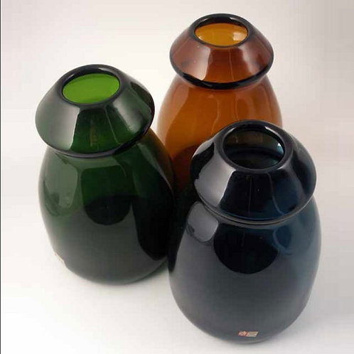 Art Glass Vases, Gunnar Ander, Lindshammar, Sweden