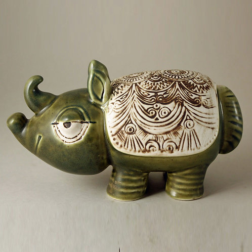 Rhinoceros, JURA Series, Lisa Larson, Gustavsberg,