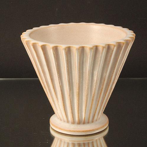 Christian Schollert, Denmark. Footed Vase. Mid Century