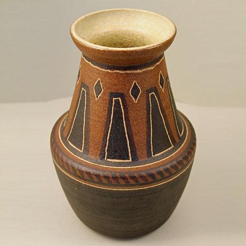 Einar Johansen, Soholm, Denmark. Tribal Vase, Mid Century