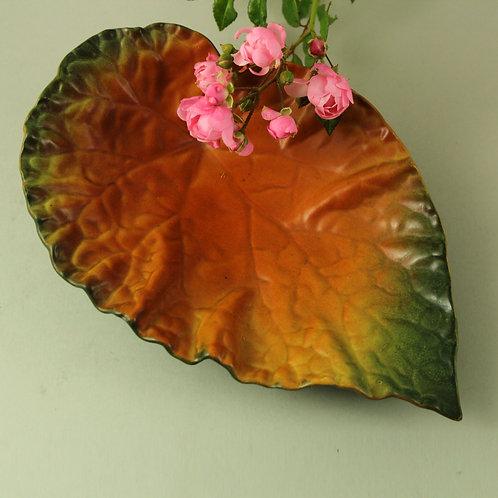 Art Nouveau Leaf Bowl, Ipsen's Enke, Denmark