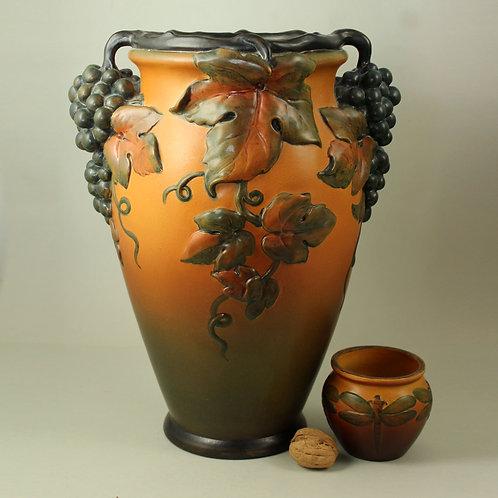 Ipsen's Enke, Denmark. Impressive Art Nouveau Vase
