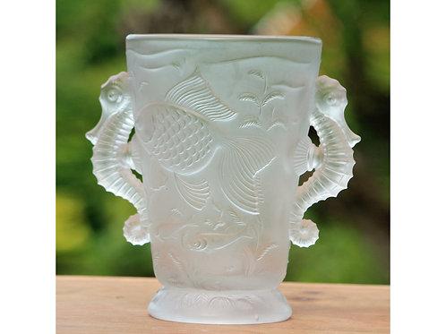 Josef Inwald, Barolac, Czechoslovakia. Art Deco Frosted Vase