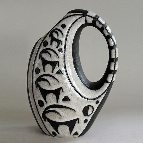 Marianne Starck for Michael Andersen, Denmark. Vase 'Negro Line'