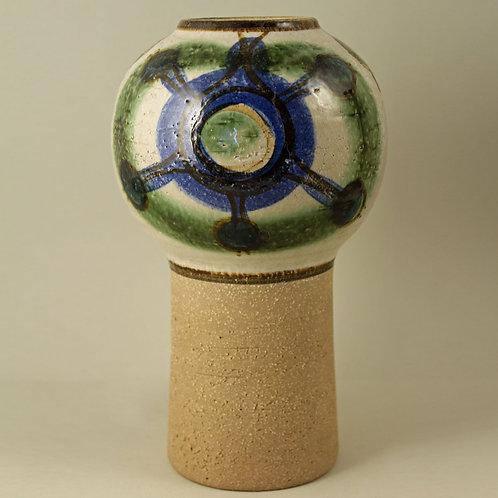 Noomi Backhausen & Poul Brandborg, Soholm, Denmark. LargePedestal Stoneware Vase