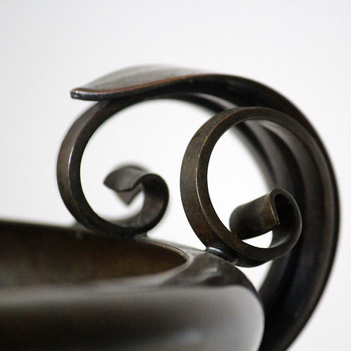 Large Art Deco Bronze Bowl, ATS Ildfast Bronce, Denmark