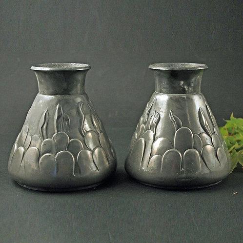 Pair of Pewter Vases, Mogens Ballin, Denmark