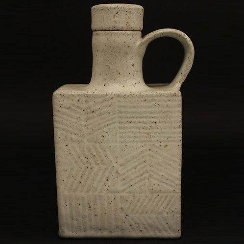 Bruno Gambone Stoneware Bottle, Italy