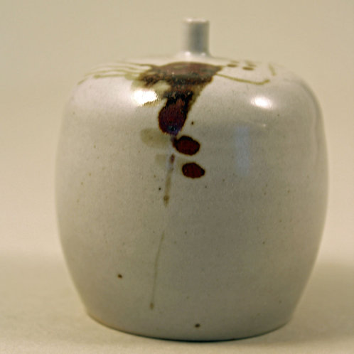 Thell, Hoganas, Sweden. Unique Miniature Stoneware Vase