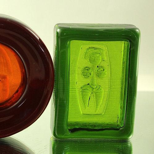Erik Hoglund, Kosta Boda, Sweden. Art Glass Relief/Bowl, Modernist Art G