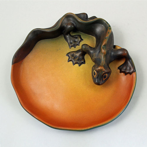 Art Nouveau Lizard Bowl, Ipsen's Enke, Denmark