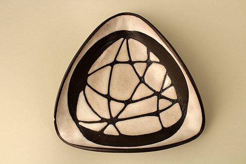 Modernist Bowl, Negro Series. Marianne Starck for Michael Andersen, Denmark