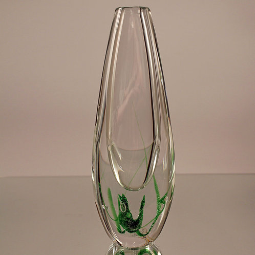 Sea-Weed Art Glass Vase, Vicke Lindstrand, KOSTA