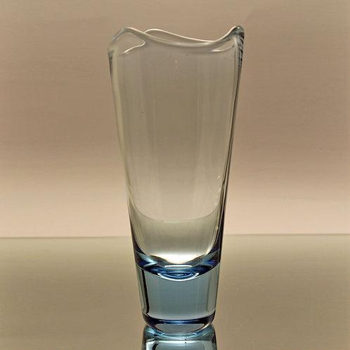 Per Lutken, Holmegaard: Aqua Blue Conical Vase, 1960's