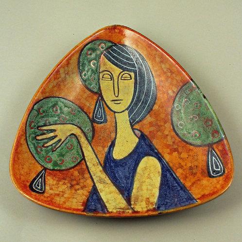 Michael Andersen, Denmark. Rare Triangular Bowl