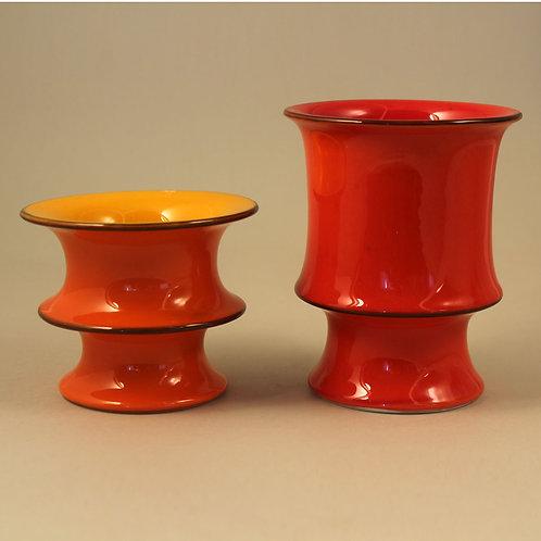 POP Series, Inger Persson, Rorstrand, Sweden. Mid Century Vases