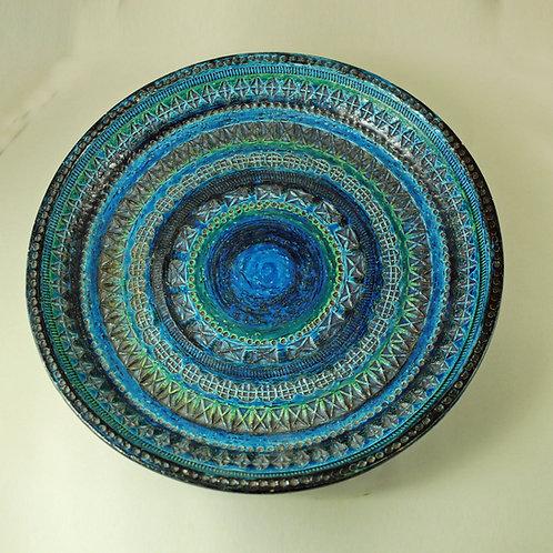 Aldo Londi, Bitossi Italy. Large Rimini Blue Bowl