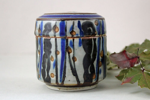 Stoneware Lidded Bowl, Ivan Weiss, Royal Copenhagen, Denmark. 1970's,