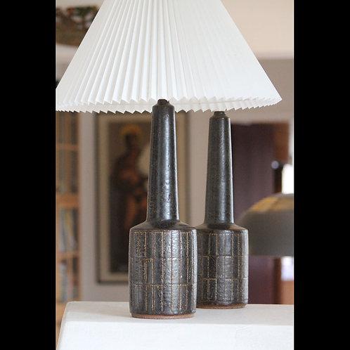 Pair of Mid Century Stoneware Lamp Bases Palshus