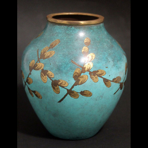 Art Deco Bronze 'IKORA' Vase, WMF, Germany