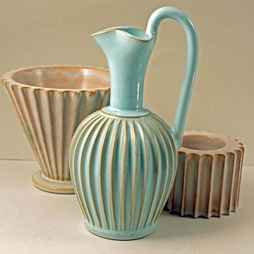 ESLAU, Denmark. Fluted Modernist Vase/Jug