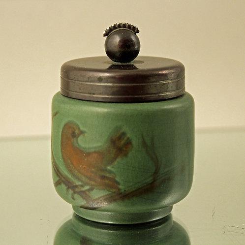 Art Deco Inkwell w. Bronze lid, Thylstrup, Ipsen's Enke, Denmark