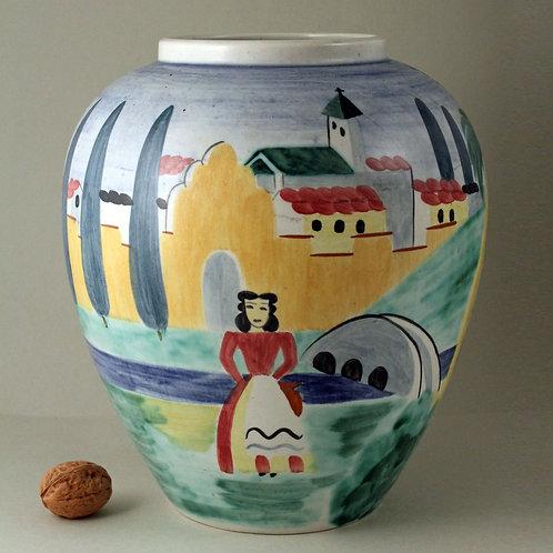 "Vase, Gunnar Nylund, Decoration by Adelheid ""Heidi"" Heiman for Rorstrand"