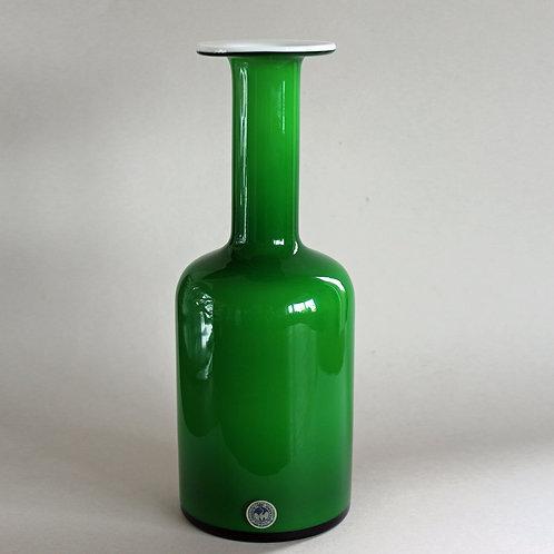 Green Bottle Gulvvase, Otto Brauer, Holmegaard, Denmark